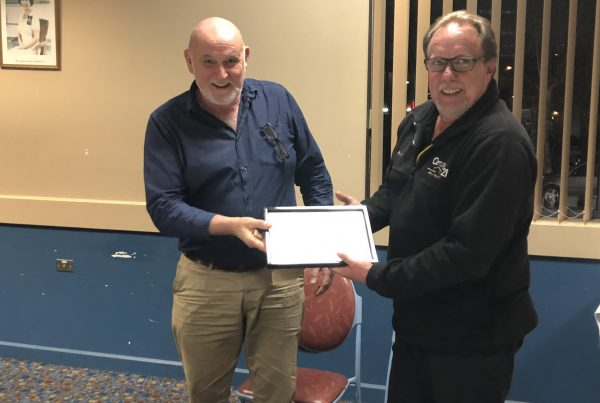 Geoff O'Brien awarded Picton Chamber of Commerce lifetime mebership